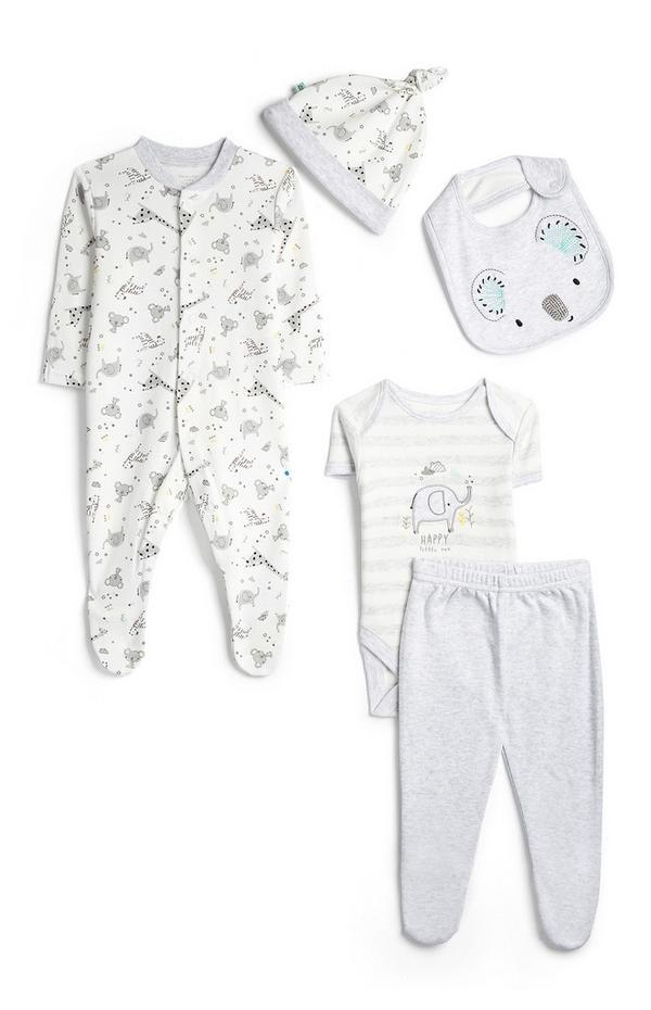 Newborn Baby Safari 5-Piece Set