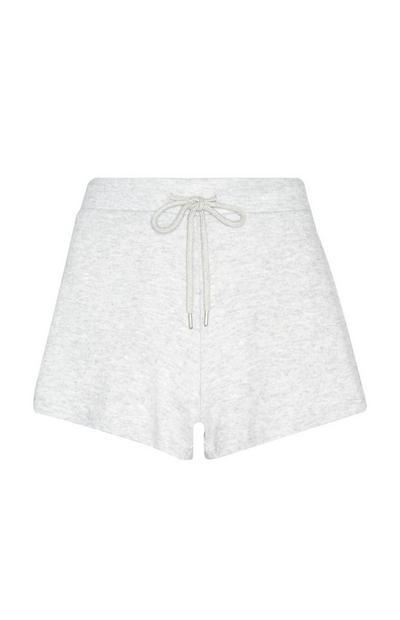 Superzachte grijze pyjamashort