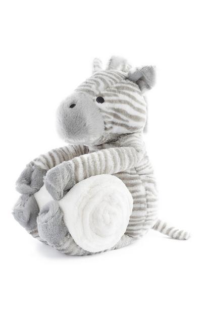 Brinquedo de pelúcia zebra com cobertor recém-nascido