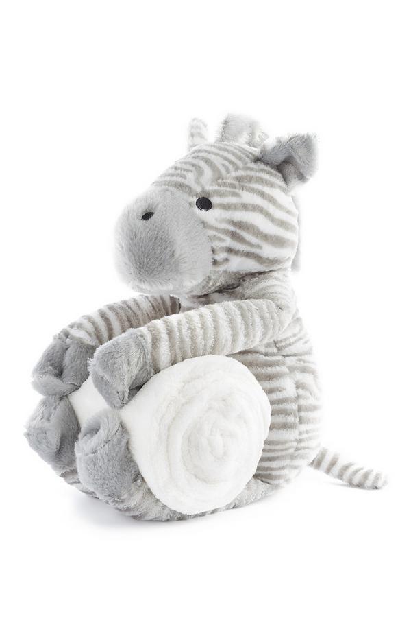Peluche de cebra con manta para recién nacido