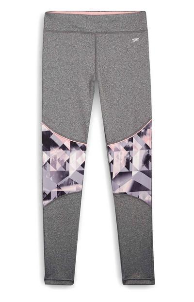 Older Girl Activewear Gray Print Leggings