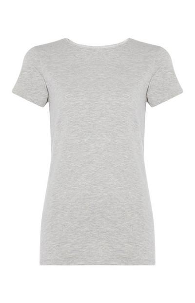 Graues Stretch-T-Shirt