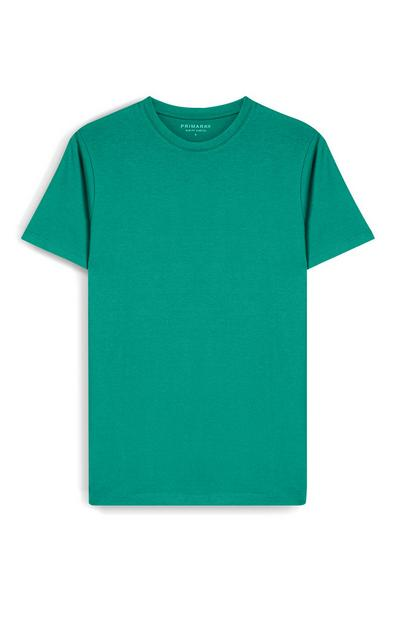 Green Slim Fit Short Sleeve T-Shirt