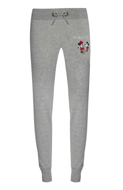 Grey Mickey And Minnie Mouse Joggers