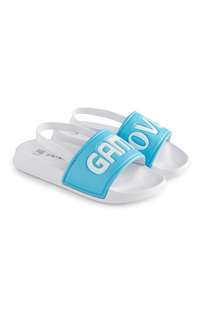 Younger Boy White And Blue Game Over Slides