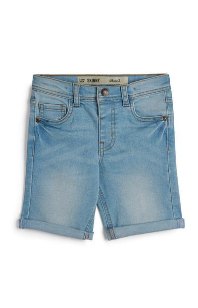Short en sergé et jean coupe skinny garçon