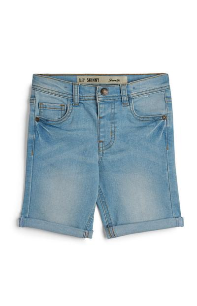 Younger Boy Twill Skinny Denim Shorts
