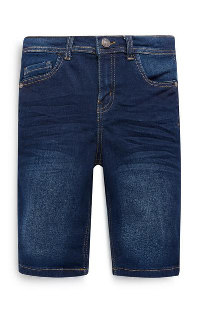 Older Boy Dark Blue Skinny Denim Shorts