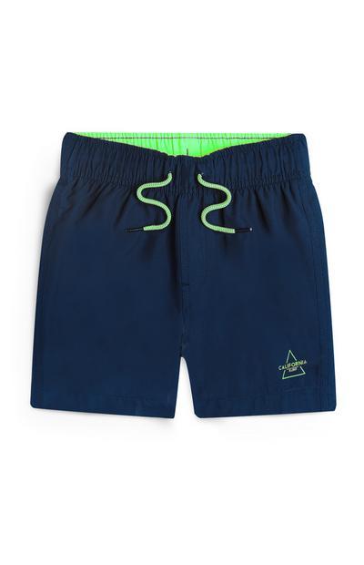 Younger Boy Navy Swim Shorts