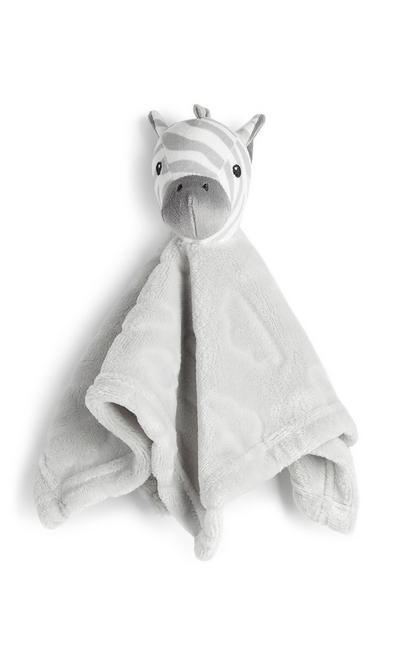 Newborn Baby Grey Zebra Comforter