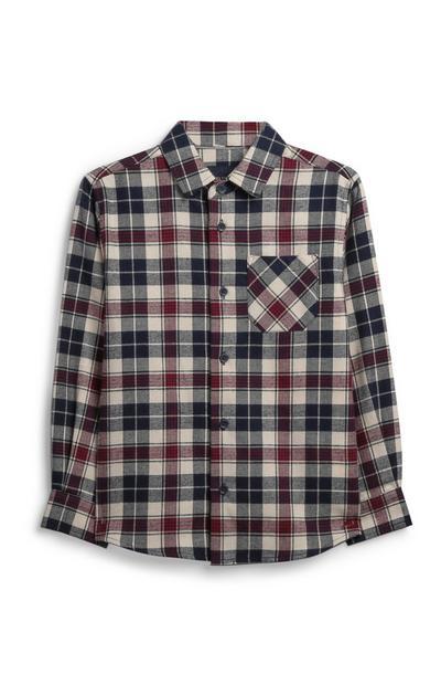 Camisa de franela para niño pequeño