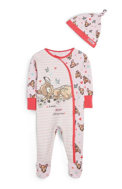 Pink Stripe Bambi Sleeper And Hat