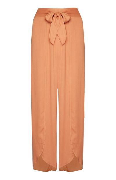 Terracotta Wrap Beach Trousers