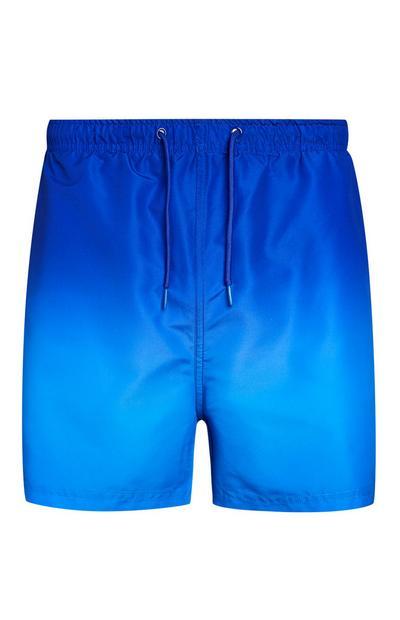 Blaue Badeshorts im Batik-Look
