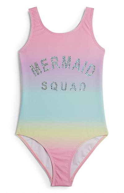 """Mermaid Squad"" Badeanzug in Batikoptik (Teeny Girls)"