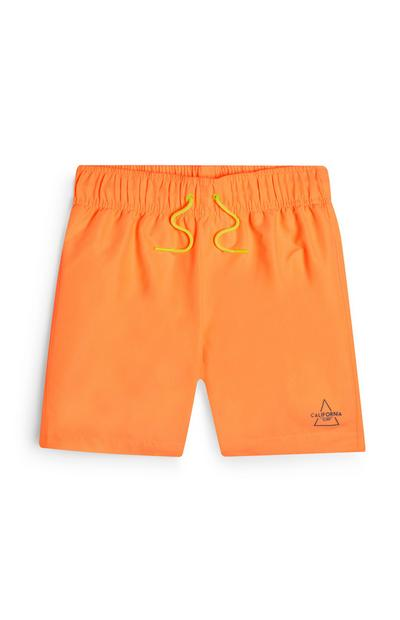 Short de bain orange ado