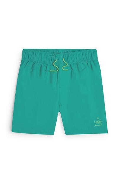 Groen-blauwe zwemshort voor jongens