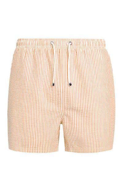 Oranžne kopalne kratke hlače iz raztegljivega materiala