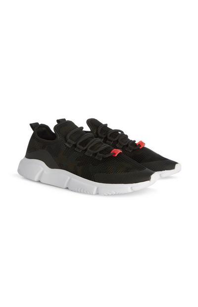 Zwarte sneakers met mesh voor jongens