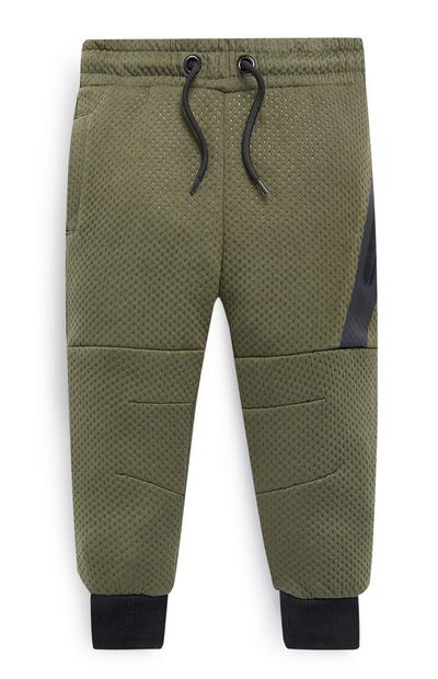 Younger Boys Green Joggers
