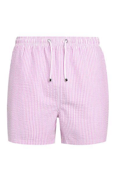 Roze zwemshort met ruitjes