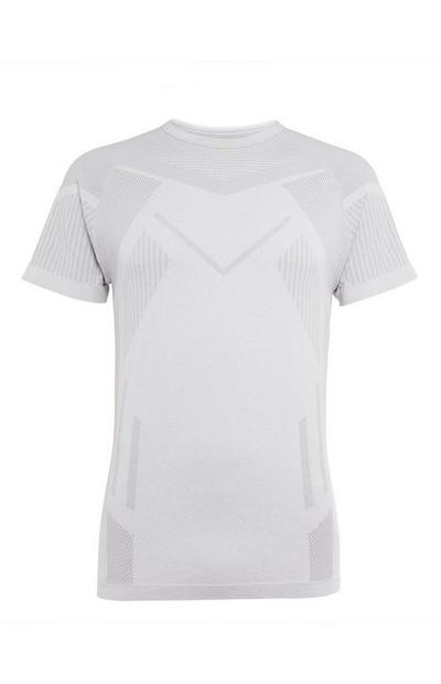 White Seam Free Geo T-Shirt