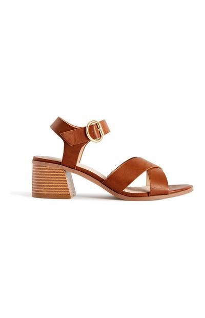 Brown Stappy Heeled Sandals