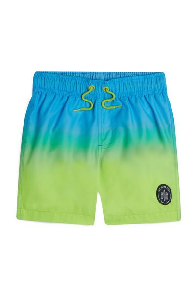 Younger Boy Blue Ombre Dye Swim Shorts 2