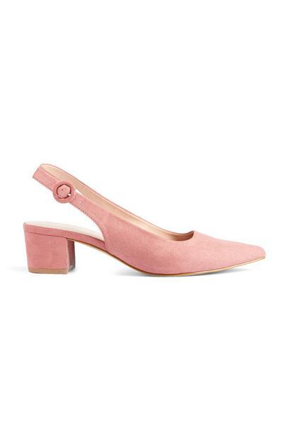 Pink Slingback Block Heel Court