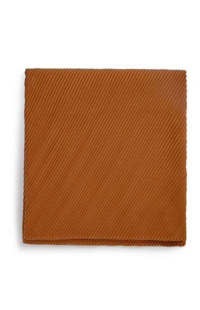 Bruine geplooide sjaal