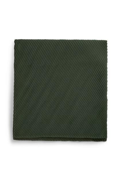 Donkergroene geplooide sjaal