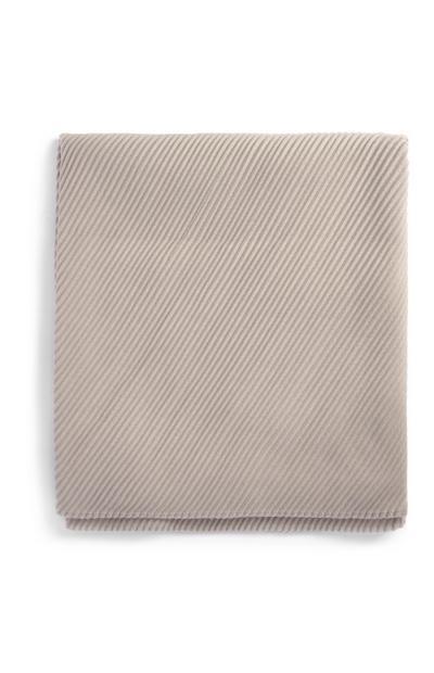 Lichtgrijze geplooide sjaal