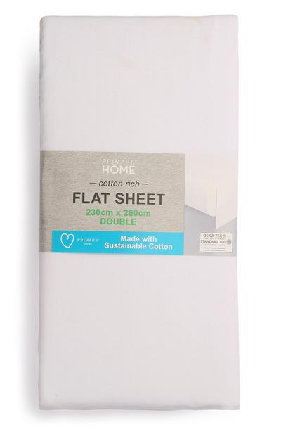 Double Sustainable Cotton Flat Bed Sheet