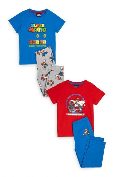 """Super Mario"" Pyjamaset in Blau/Rot, 2er-Pack"
