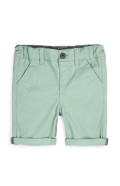 Shorts chino menta da bimbo