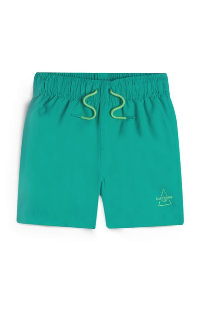 Younger Boy Teal Swim Shorts