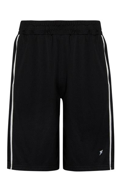 Black Basketball Mesh Shorts