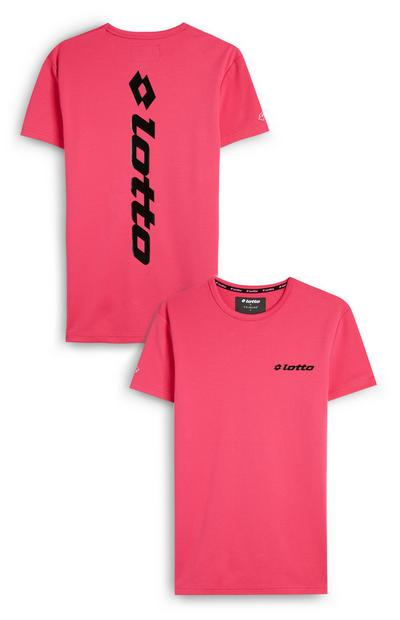 T-shirt rosa con logo Lotto