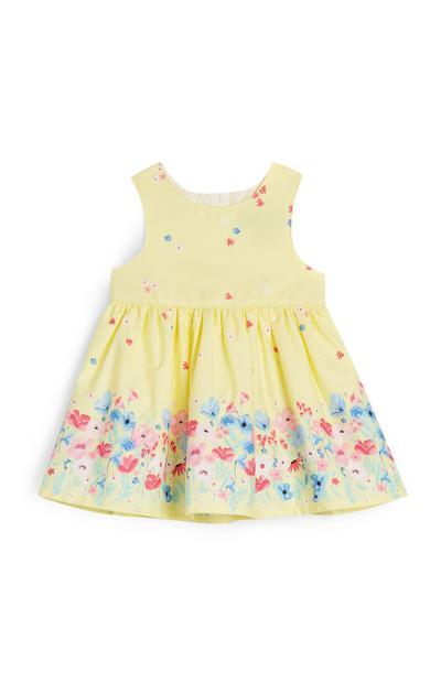 Baby Girl Yellow Flower Print Dress