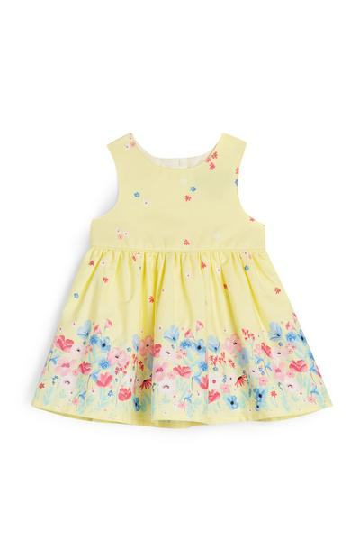Baby Girl Yellow Flower Print Dress