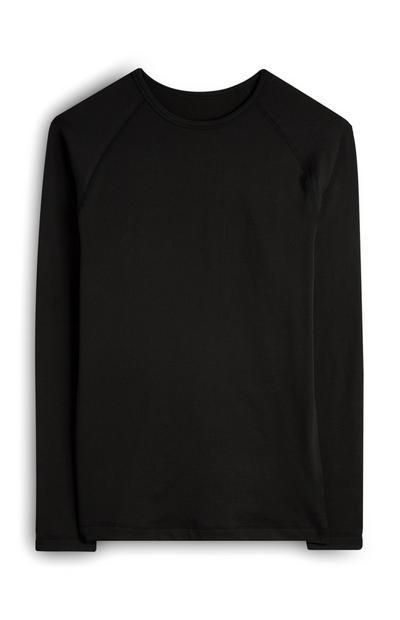 Zwart compressieshirt met lange mouwen