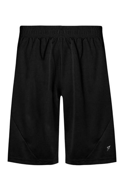 Zwarte shorts met mesh