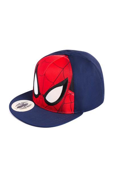Red and Blue Spiderman Flat Peak Cap