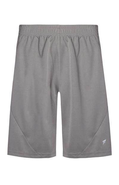 Graue Mesh-Shorts