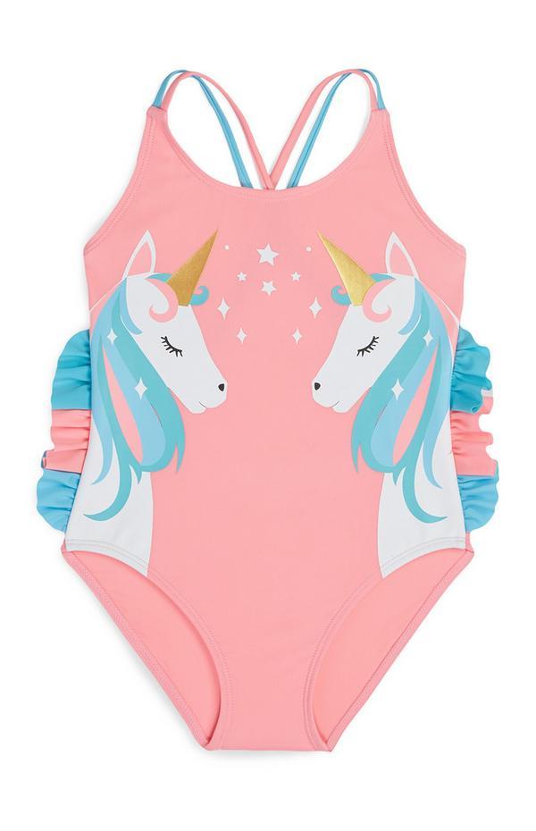 UK 8 10 Donna Unicorno Arcobaleni Costume Da Bagno Nero Primark Da Donna Costume Da Bagno
