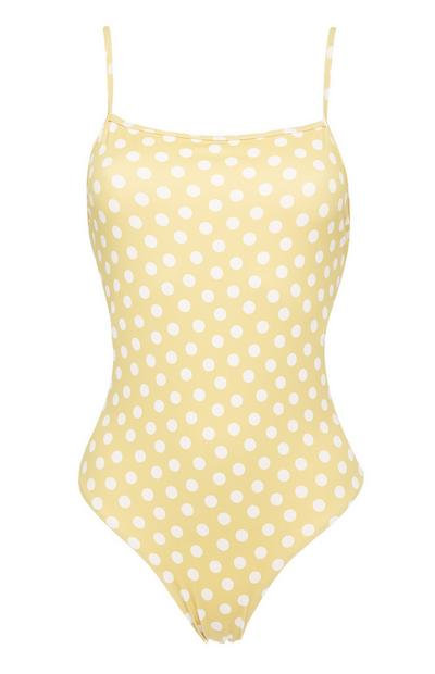 Yellow Polka Dot Swimsuit