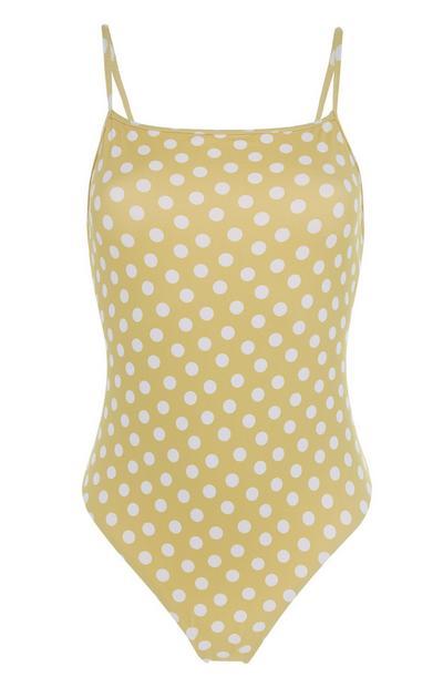 Yellow Polka Dot Swimsuit