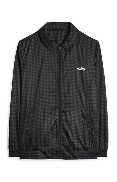 Black Lotto Check Bomber Jacket