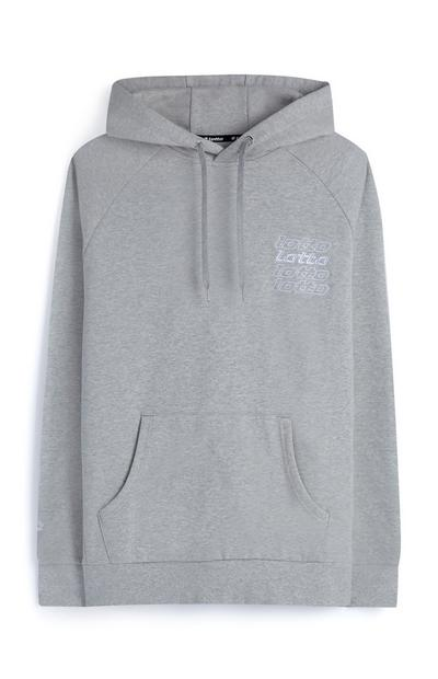 Sudadera con capucha gris Lotto