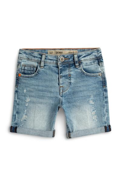 Shorts skinny in denim da bambino
